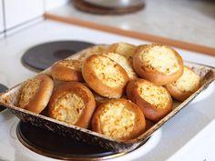 Nillen reseptivihko: Pyöröset Pretzel Bites, Baked Potato, French Toast, Muffin, Good Food, Food And Drink, Breakfast, Ethnic Recipes, Foodies