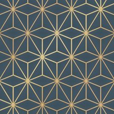 I Love Wallpaper Astral Metallic Geometric Wallpaper Navy Blue Gold - Wallpaper from I Love Wallpaper UK Geometric Wallpaper Navy, Blue And Gold Wallpaper, Metallic Wallpaper, Textured Wallpaper, Vinyl Wallpaper, Brick Wallpaper, Love Wallpaper, Pattern Wallpaper, Bathroom Wallpaper Navy