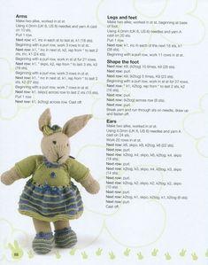 Knitted Doll Patterns, Animal Knitting Patterns, Crochet Amigurumi Free Patterns, Knitted Dolls, Stuffed Animal Patterns, Ravelry Crochet, Knitted Bunnies, Knitted Animals, Crochet Bunny