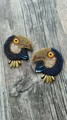 Brooches handmade.  Fair of Masters - handmade.  Buy Toucan.  Handmade.  Toucan, embroidered brow, gift for every occasion