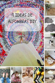 9 ideas de alfombras DIY para hacer paso a paso - No te puedes imaginar la de cosas que puedes reutilizar para crear tus propias alfombras paso a paso.