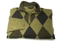 Bobby Jones XXL Merino Wool 1/2 Zip Pullover Sweater 2XL Long Sleeve Brown Tan #BobbyJones #12Zip