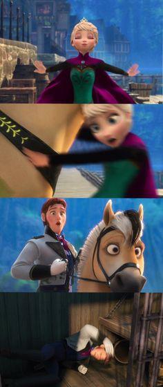 """If you'd bumped into my sister, Elsa..."" << Haha!"