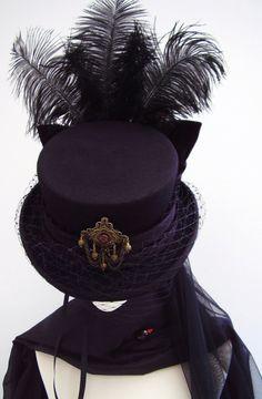Victorian Dressag riding  hat steampunk by Blackpin on Etsy, £95.00