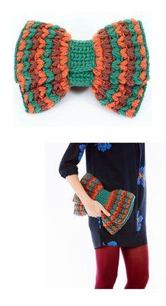 Crochet bow clutch - Caterina Bertini #madeinitaly