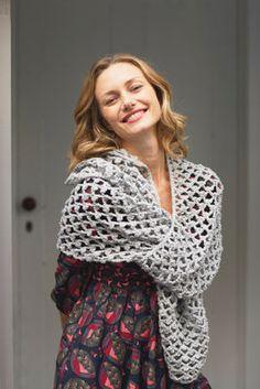 Shimmer Mesh Scarf (Crochet)