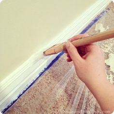 Freshly Handmade Tutorial A Beginner 39 S Guide To Painting Wood Trim Home Decor Pinterest