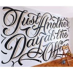 Mateusz Witczak is a self-taught lettering artist and graphic designer currently living in Warsaw, Poland. More lettering inspiration Visit his website Calligraphy Letters, Typography Letters, Caligraphy, Penmanship, Typography Served, Types Of Lettering, Lettering Design, Wall Lettering, Lettering Styles