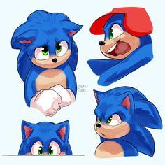 Pssst- I saw the sonic movie! Sonic The Hedgehog, Hedgehog Movie, Hedgehog Art, Shadow The Hedgehog, Sonic The Movie, The Sonic, Nintendo Sega, Sonic Fan Art, Star Trek Voyager