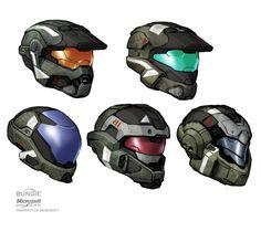 HALO: Reach Helmets by Scarlighter.deviantart.com on @deviantART