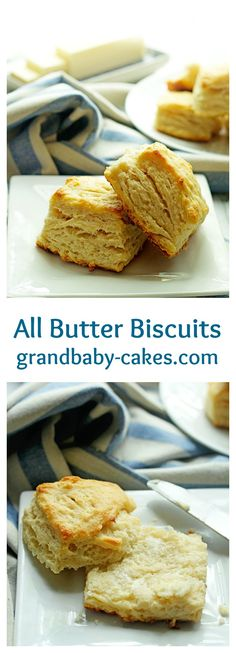 The perfect Butter Biscuits- flaky and soooo good   Grandbaby-Cakes.com
