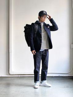 Asian Men Fashion, Japanese Fashion, Urban Fashion, Mens Fashion, Fashion Outfits, Engineered Garments, Men Style Tips, Gentleman Style, Men Looks