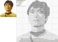 Brain Clutter: Cross stitch pattern: Star Trek