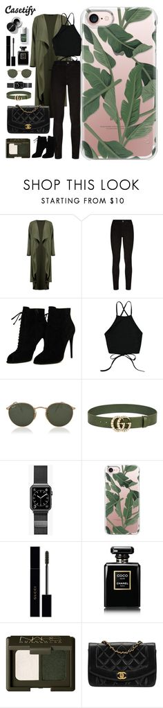 """Don't Leaf Me"" by casetify ❤ liked on Polyvore featuring Boohoo, Paige Denim, Tom Ford, Ray-Ban, Gucci, Casetify, Chanel and Couture Colour"