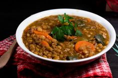 Healthy and Spicy Recipes to Kickstart Your Weight Loss in the New Year: Spicy Green Lentils with Bacon and Vegetables