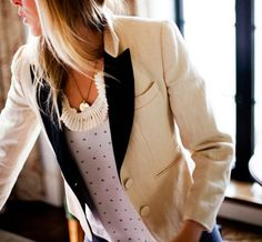 love the white blazer