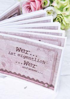 Hochzeit, Vintage, wertschatz, who is who
