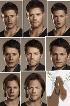 their haircuts on each other Supernatural Boys Jensen Ackles Jared Padalecki and Micha Collins