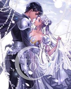 Beautiful Prince Endymion & Princess Serenity art by eclosion (via pixiv)