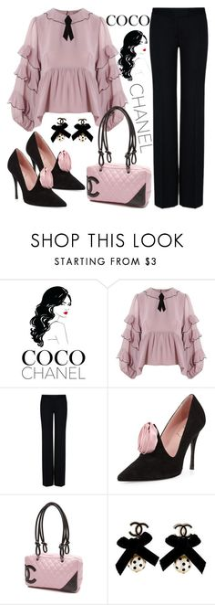 """""""Coco Chanel"""" by chey-love ❤ liked on Polyvore featuring Chanel, For Love & Lemons, STELLA McCARTNEY and Roger Vivier"""