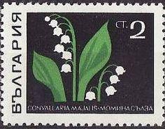 Znaczek: Lily of the Valley (Convallaria majalis) (Bułgaria) (Medical Plants) Mi:BG 1859,Sn:BG 1730,Yt:BG 1649