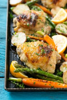 Lemon Thyme Chicken with Vegetables Recipe on Yummly. @yummly #recipe