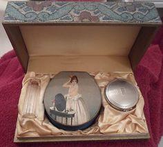 Antique Art Deco Richard Hudnut Deauville Lady Face Powder Box Perfume Bottle | eBay