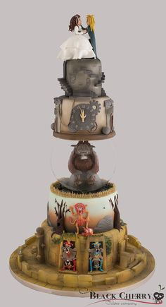 Labyrinth Wedding Cake; I don't want this by any means, but it's pretty great.