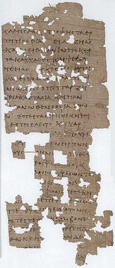 Papyrus manuscript fragments of the Epistle of James from an ancient copy of a New Testament in Greek. The surviving texts of James are verses 3:13-4:4; 4:9-5:1. Found Oxyrhynchus, Egypt, dates from around 300 AD. The manuscript is currently housed at the Ashmolean Museum (P. Oxy. 4449) at Oxford.