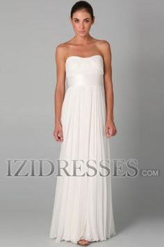 Sheath/Column Sweetheart Strapless Chiffon Graduation Dresses