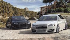 Audi Black and White Luxury Car Brands, Luxury Cars, Audi A8, Audi Quattro, Street Racing Cars, Amazing Cars, Hot Cars, Cars And Motorcycles, Dream Cars