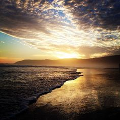 More Sunsets.:):) #beautifulmomets #beach #hermanus #sunset #clouds #seasideholidays Dean Jones, Seaside Holidays, Beautiful Scenery, Mountain View, Cape Town, Sunsets, South Africa, Places To Visit, Relax