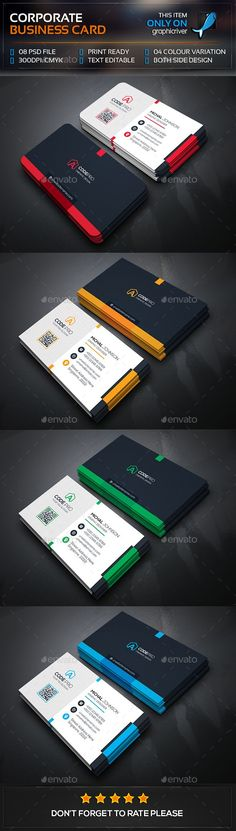 Mega Corporate Business Card Template PSD #visitcard #design Download: http://graphicriver.net/item/mega-corporate-business-card/13477438?ref=ksioks #howtoprintbusinesscardsat,home,