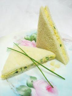 Egg Salad Tea Sandwiches .