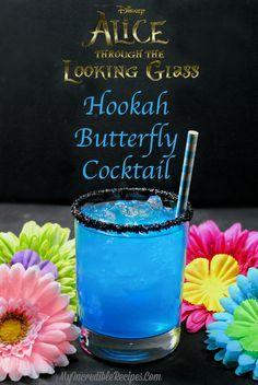 Hookah-Schmetterlings-Cocktail [looks yum! Want to make] Hookah-Schmetterlings-Cocktail [looks yum! Disney Cocktails, Vodka Cocktails, Disney Mixed Drinks, Disney Themed Drinks, Vodka Martini, Craft Cocktails, Liquor Drinks, Non Alcoholic Drinks, Bourbon Drinks