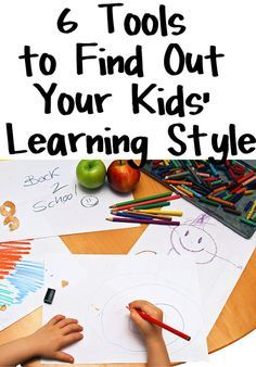 6 Tools to Determine Your Kids' Learning Styles by Tara Ziegmont - Good collection of quizzes about Learning Styles in Young Children, Kids and Adults, Multiple Intelligences, and information about Myers-Briggs Personality Types.