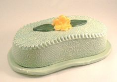 BellaTerraCeramics I love this. Ceramic Butter Dish, Napkin Holders, Cheese Trays, Terracotta, Holiday Gifts, Pots, Honey, Clay, Craft Ideas