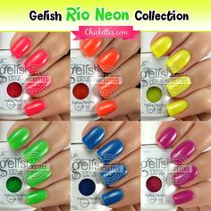 Gelish Rio Neon Collection Swatches
