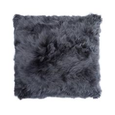Alpaca Fur 40x40cm Cushion Cover, Dark Grey