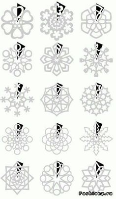 Paper snowflake templates