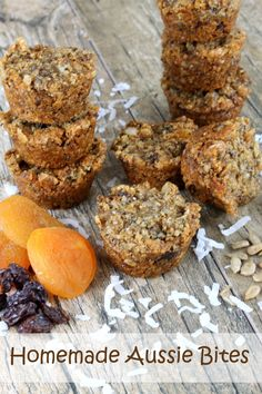 Home Made Doggy Foodstuff FAQ's And Ideas Homemade Aussie Bites. These Things Pack A Nutritional Punch Quinoa, Chia Seeds, Flax Seed, Coconut, And More Get Your Healthy On Muffin Recipes, Breakfast Recipes, Snack Recipes, Dessert Recipes, Cooking Recipes, Breakfast Ideas, Breakfast Muffins, Healthy Sweets, Healthy Baking