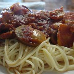 Easy Slow-Cooker Chicken Cacciatore food-and-drink Crock Pot Slow Cooker, Crock Pot Cooking, Slow Cooker Recipes, Crockpot Recipes, Chicken Recipes, Cooking Recipes, Healthy Recipes, Free Recipes, Yummy Recipes
