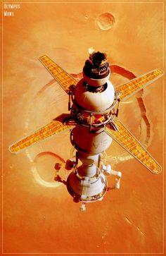 Martian Lander at Olympus Mons by GrahamTG.deviantart.com on @DeviantArt