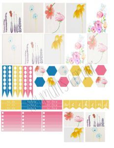 Freebie Friday: Watercolor Happy Planner Sticker Layout | Newman's Corner