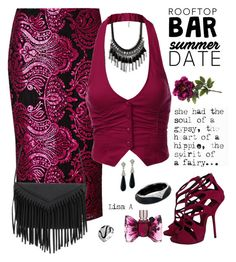 """Summer Date: Rooftop Bar"" by labond on Polyvore featuring Per Una, J.TOMSON, Giuseppe Zanotti, Kenneth Jay Lane, Alexis Bittar, Bling Jewelry, Viktor & Rolf, summerdate and rooftopbar"
