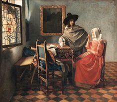 Jan Vermeer van Delft - Herr und Dame beim Wein