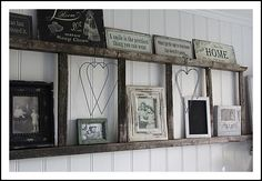 old ladder shelf. Going to do this once my dad gets me my old ladder. Pale Dogwood, Diy Casa, Home And Deco, My New Room, Home Projects, Diy Home Decor, Decor Room, Home Improvement, Sweet Home