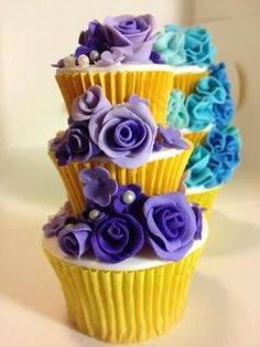 Stacked Cupcakes by D'lish Cupcakes & Accessories, Penrith, New South Wales, Australia.