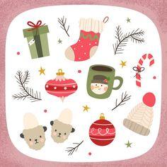 Christmas Doodles, Christmas Icons, Christmas Drawing, Christmas Mood, Christmas Design, Handmade Christmas, Christmas Crafts, Christmas Decorations, Printable Christmas Cards