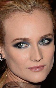 Maquiagem Diane Kruger Baile do Met 2013: Veja como foi feito o make da atriz.